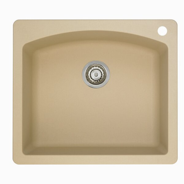 Diamond 25 L x 22 W Single Bowl Drop-In Kitchen Sink by Blanco