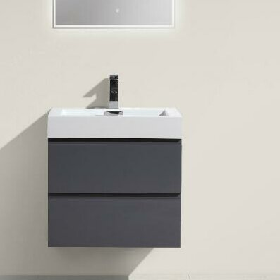 Leni 24 Wall-Mounted Single Bathroom Vanity Set by Orren Ellis
