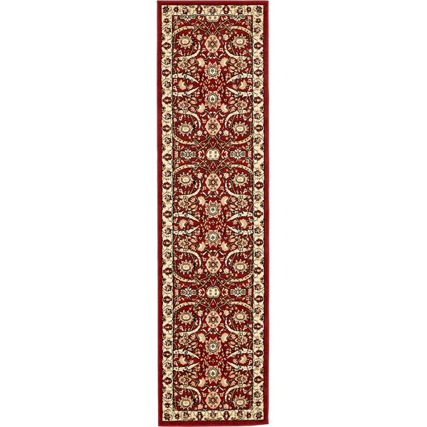 Britannia Red Area Rug by World Menagerie