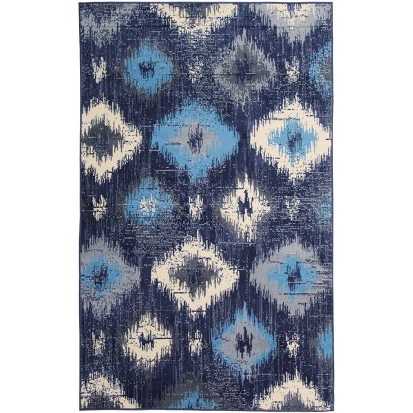 Bonner Navy Area Rug by Bungalow Rose