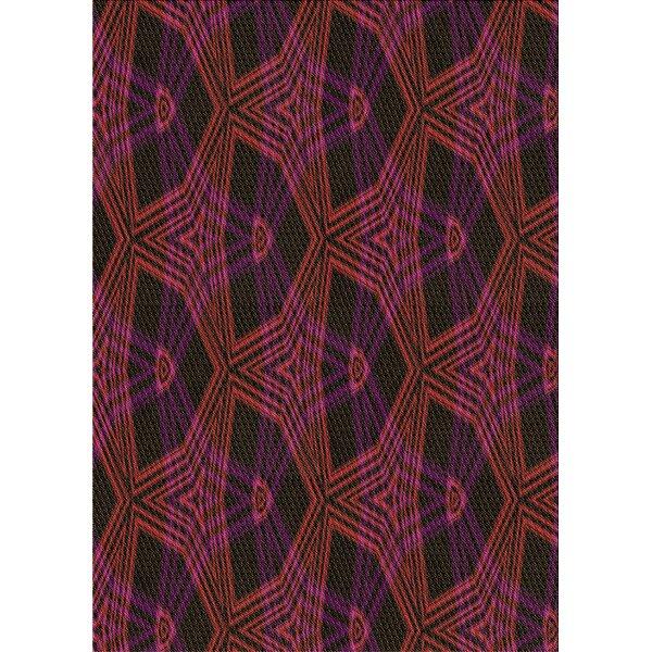 East Urban Home Varshini Abstract Wool Brown Violet Area Rug Wayfair