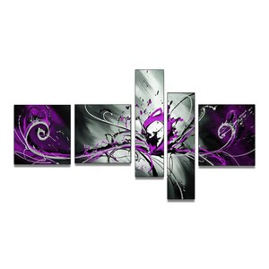 'Abstract Splash' 5 Piece Painting on Canvas Set by Zipcode Design