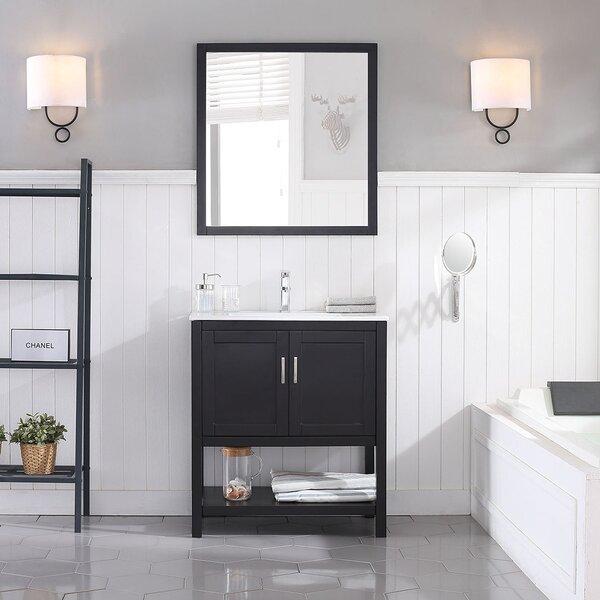 Mattis 30 Wall-Mounted Single Bathroom Vanity Set with Mirror by Gracie Oaks