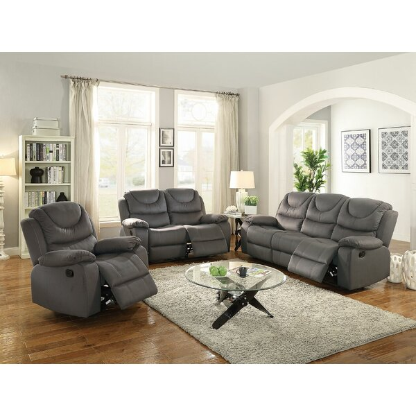 Sunderman Reclining Motion 3 Piece Living Room Set by Red Barrel Studio