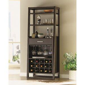 playlist bar with wine storage