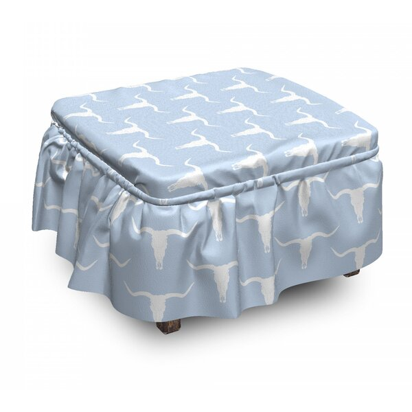 Plus And Bull Skull Ottoman Slipcover (Set Of 2) By East Urban Home