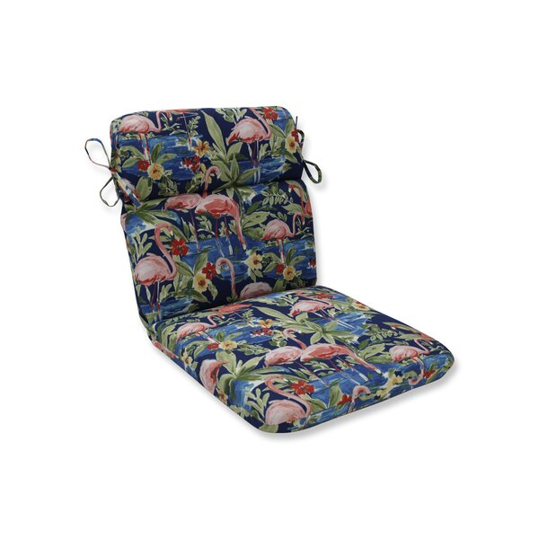Flamingoing Lagoon Outdoor Dining Chair Cushion by Bay Isle Home