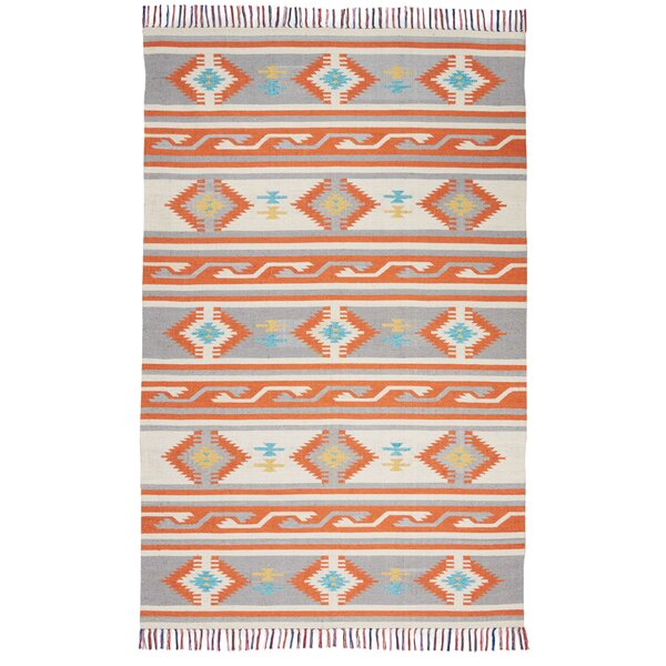 Rocky Hand-Woven Ivory Area Rug by Bungalow Rose