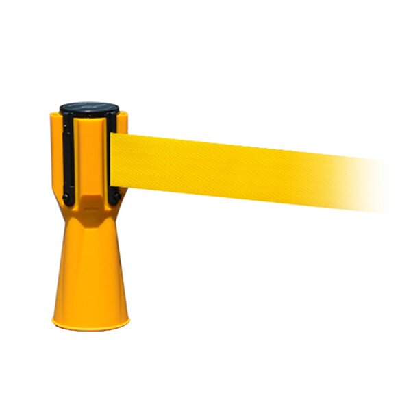 Yellow Tensacone Topper with Caution - Do Not Enter Belt by Tensator