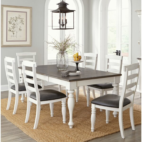 Arlene 7 Piece Extendable Solid Wood Dining Set by August Grove August Grove
