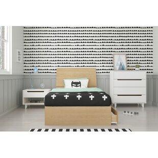 Leesburg Twin Platform 4 Piece Bedroom Set ByEbern Designs