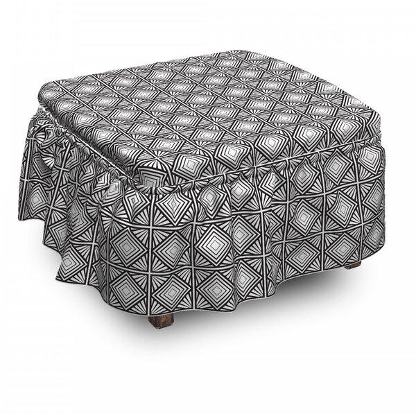 Geometric Mosaic Shape Ottoman Slipcover (Set Of 2) By East Urban Home