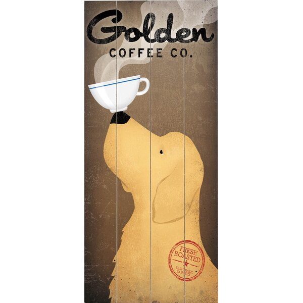 Golden Coffee Graphic Art Print Multi-Piece Image on Wood by Artehouse LLC