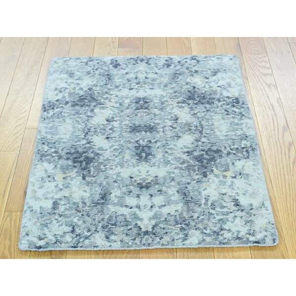 One-of-a-Kind Brighton Abstract Design Handwoven Wool/Silk Area Rug by Isabelline
