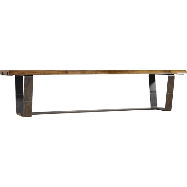 Live Edge Metal/Wood Bench by Hooker Furniture
