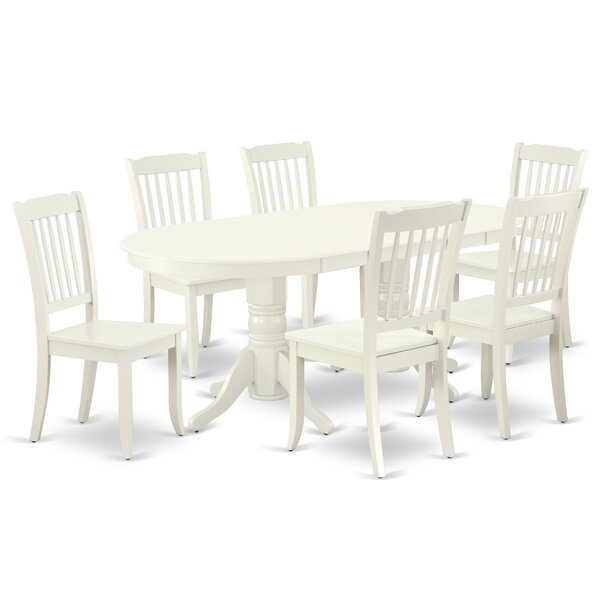 Wootton 7 Piece Extendable Solid Wood Dining Set by August Grove August Grove