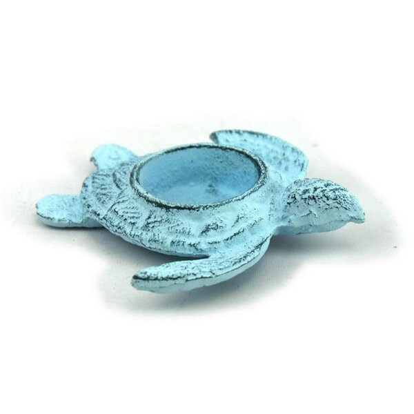 Turtle Iron Votive by Handcrafted Nautical Decor