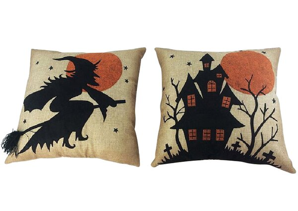 2 Piece Halloween Throw Pillow Set by Craft Outlet