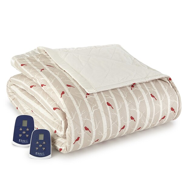 Georgette Cardinals Electric Heated Comforter Blanket by August Grove