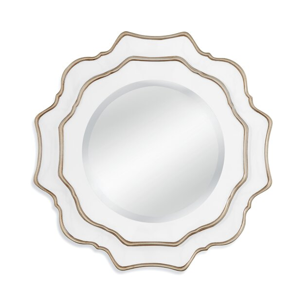 White/Silver Resin Wall Mirror by Darby Home Co