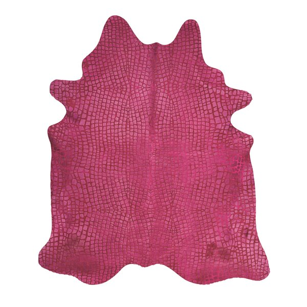 Bretta Crocodile Fuschia Hide Rug by Willa Arlo Interiors