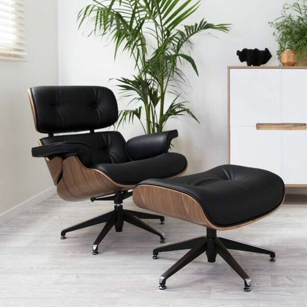 Chatham Square Swivel Lounge Chair and Ottoman by Corrigan Studio