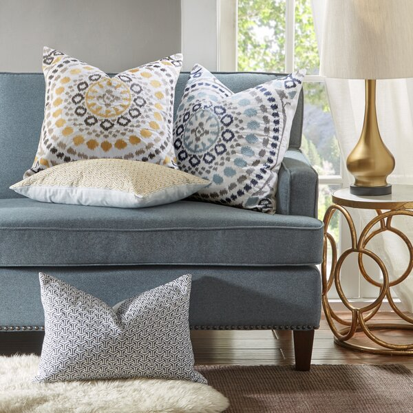 Grace Cotton Embroidered Throw Pillow by Madison Park Signature| @ $39.99
