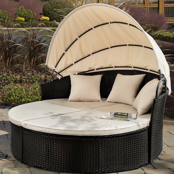 Leiston Round Patio Daybed with Cushions by Freeport Park