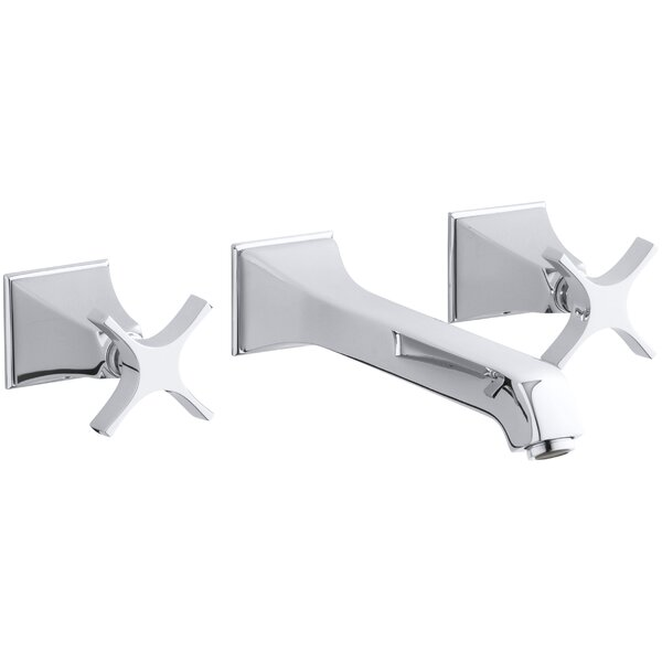 Memoirs Wall-Mount Bathroom Sink Faucet Trim with Cross Handles, Requires Valve by Kohler