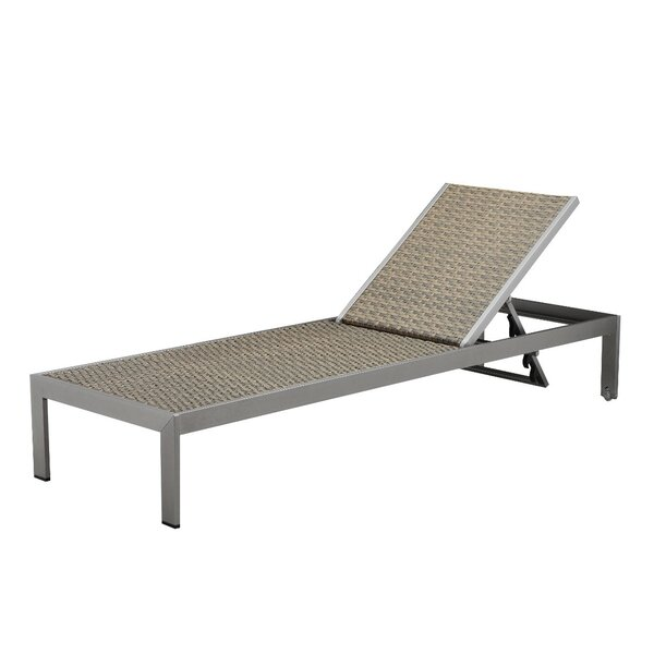 Zilla Sleek Anodized Aluminum Reclining Chaise Lounge by Brayden Studio