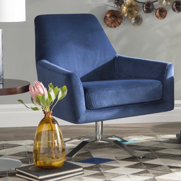 Edmund Swivel 22-inch Armchair by Wade Logan Wade Logan