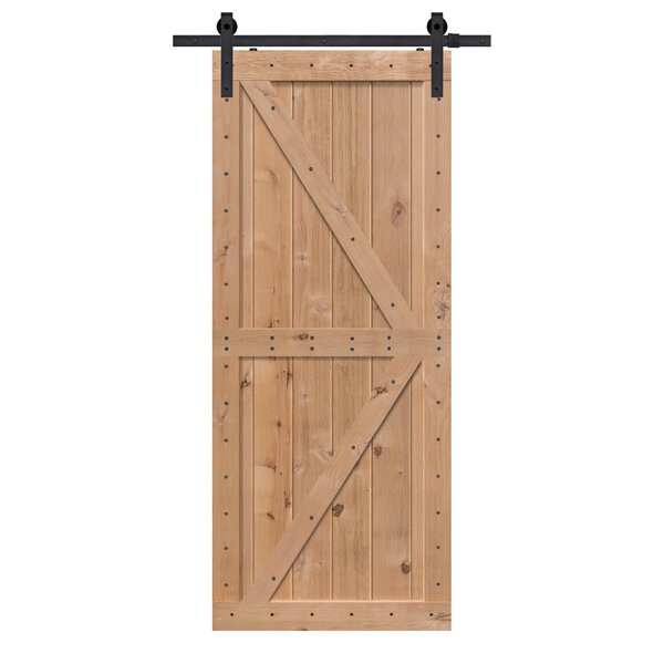 Double Z Solid Wood Panelled Alder Interior Barn Door by Barndoorz