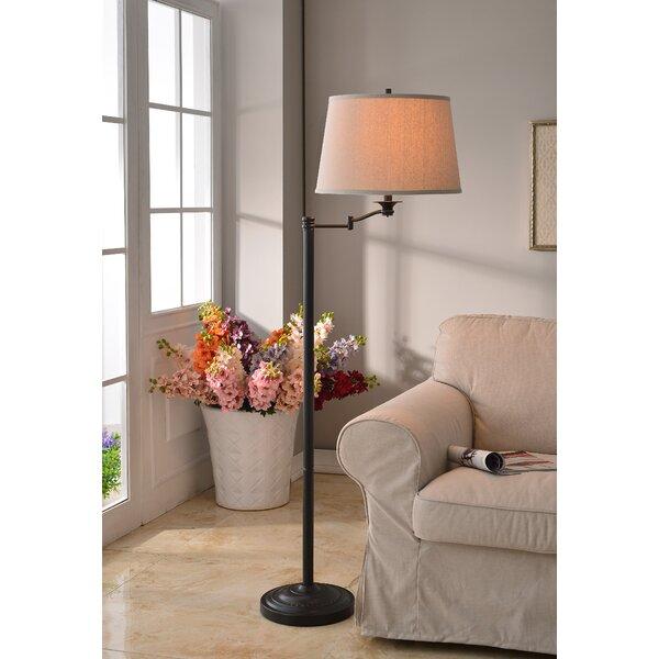 Herndon 59 Swing Arm Floor Lamp by Charlton Home