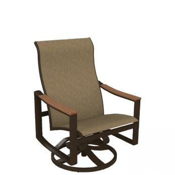 Brazo Sling Swivel Action Patio Chair by Tropitone