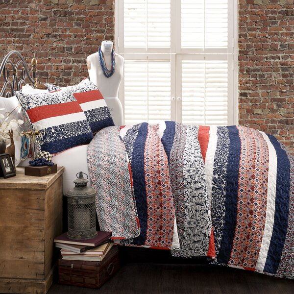 Bridgelands 3 Piece Reversible Quilt Set by World Menagerie