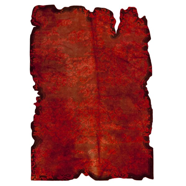 Jalwa 1 Hand-Tufted Wool Red Area Rug by Hokku Designs