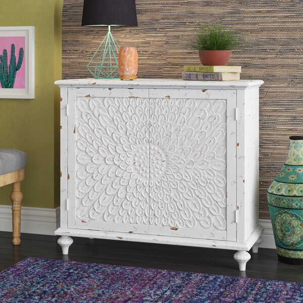 Suri Carved Front 2 Door Accent Cabinet by Mistana