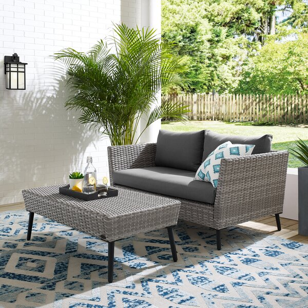 Tennie 2 Piece Sectional Seating Group with Cushions by Orren Ellis