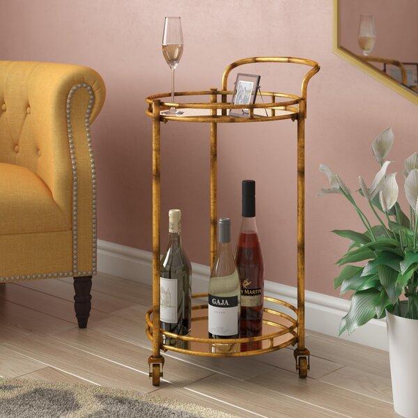 Herald 2 Tier Cylinder Bar Cart by Willa Arlo Interiors Willa Arlo Interiors