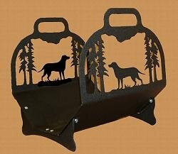 Lab Retriever Log Rack by Wildlife Décor