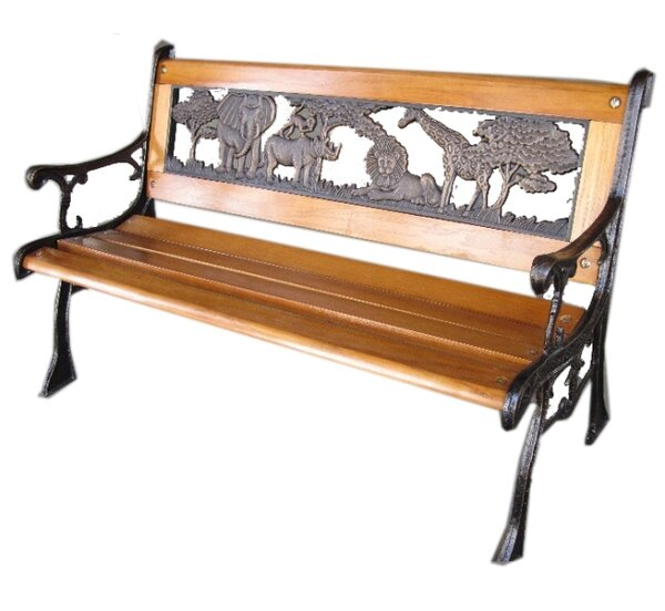 Corette Cast Iron Park Bench by World Menagerie