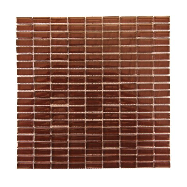 Epiphany 0.5 x 1.25 Glass Mosaic Tile in Brown by Abolos