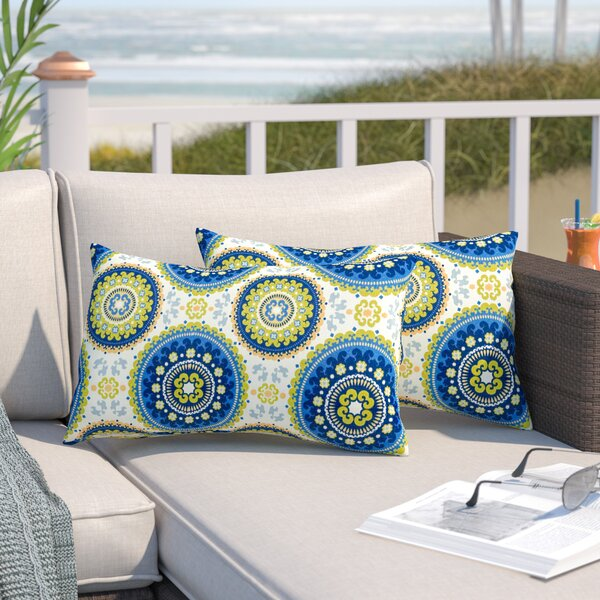 Pearson Outdoor Lumbar Pillow (Set of 2) by World Menagerie