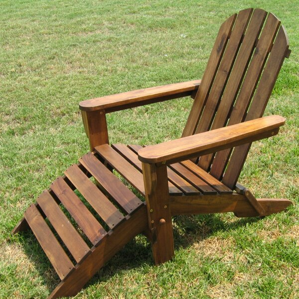 Adirondack Chair with Ottoman by International Caravan International Caravan