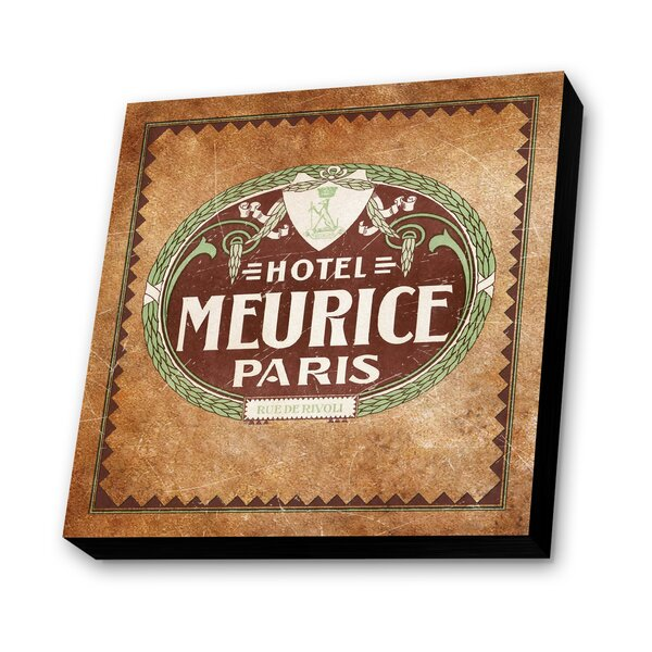 Meurice Paris, France Graphic Art Plaque by Lamp-In-A-Box