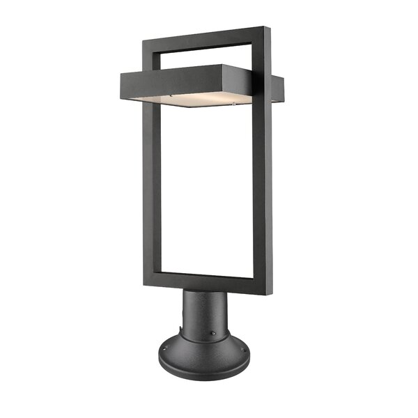Fortune 1-Light LED Pier Mount Light by Orren Ellis