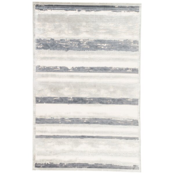 Machine-Woven Chenille Gray Area Rug by The Conestoga Trading Co.