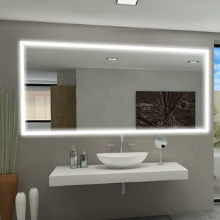Best Price Rectangle Backlit Bathroom / Vanity Wall Mirror By Paris Mirror
