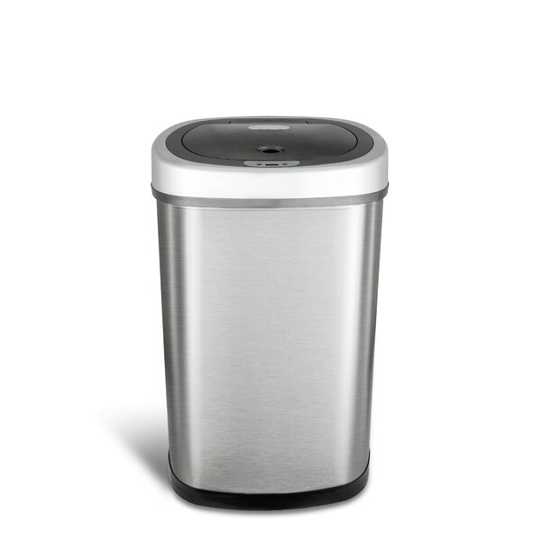 Stainless Steel 13.2 Gallon Motion Sensor Trash Can by Nine Stars