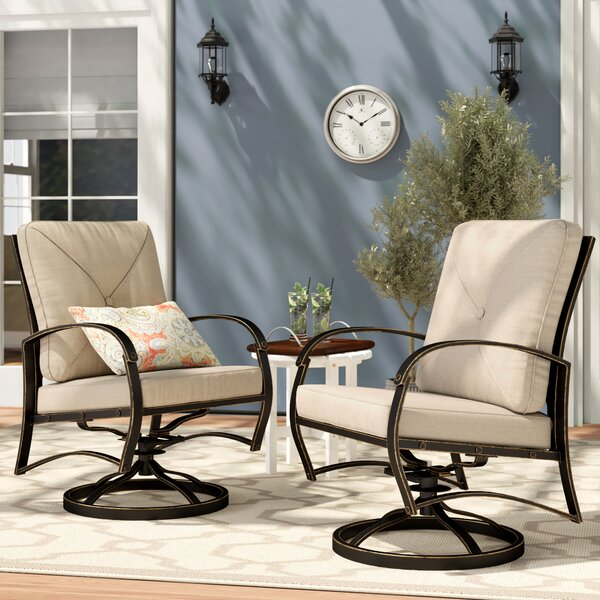 Kain Swivel Patio Dining Chair With Cushion (Set Of 2) By Red Barrel Studio by Red Barrel Studio Today Sale Only